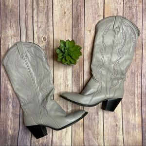 ACME Western Cowgirl Boots Gray Sz. 6